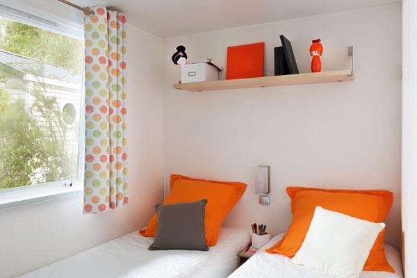 Mobilhome 2 chambres Grenache, chambre