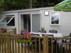 Camping Prémian Mobil home terrasse