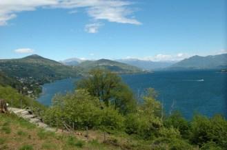 Blick vom Sacro Monte auf den Lago Maggiore