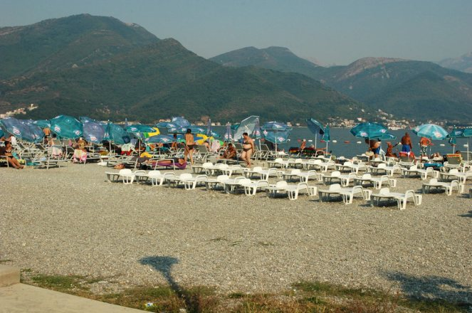 Neu geschaffener Strand bei Bijela