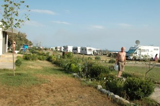 Camping Safari, Stellplätze am Meer