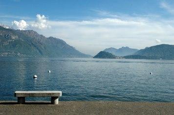 Meanggio, Blick über den Comer See nach Bellagio