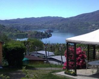schöne Aussicht auf den Ortasee vom Camping Royal