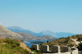 Fantastischer Blick über die Bucht von Porto Palermo
