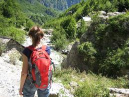 Der Bergbach hat derzeit wenig Wasser