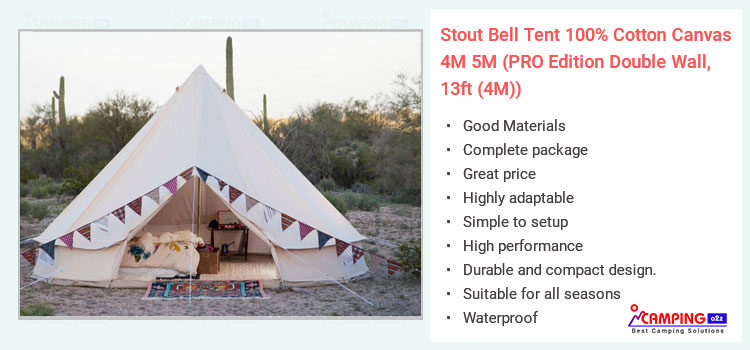 Stout bell canvas tent