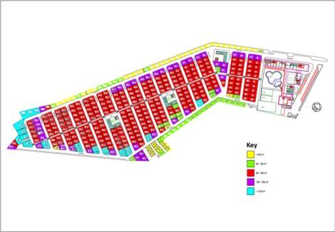 Camping Almafra Caravan Park Plan