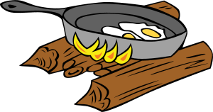 Camp Kitchen - cooking over a hunters fire.