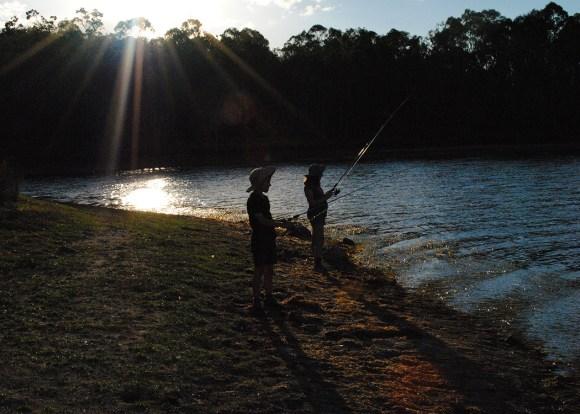 twilight 'fishing'. twilight, yes — fish, no.