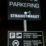 Skilt ved bobilparkering på Lillehammer