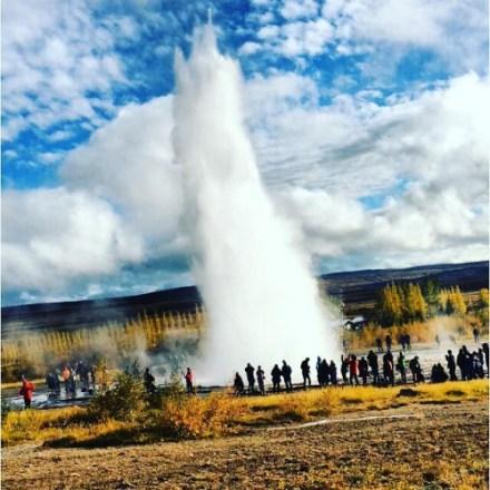 Strokkur, geysir på Island (Foto: Ida Ommundsen)
