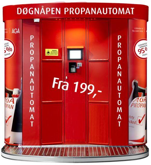 AGAs propanautomater har blitt en stor suksess. Det planlegges å nå 100 stk. i løpet av 2018