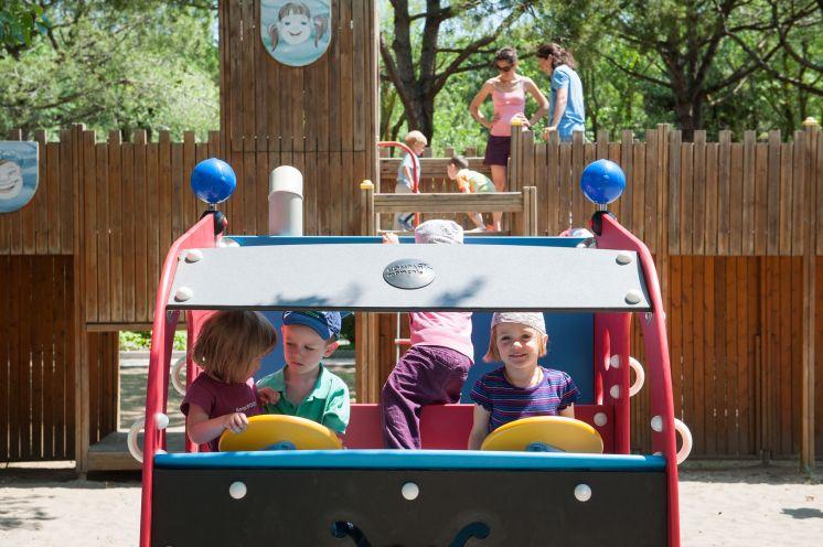 Children playing at Ca' Savio