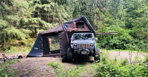 Overlanding with rooftop tent