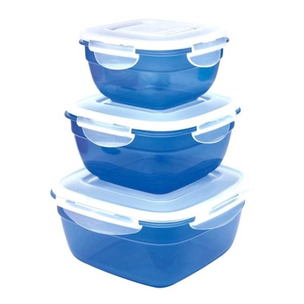 Frischhaltedosen - Lock & Lock  3-tlg in blau