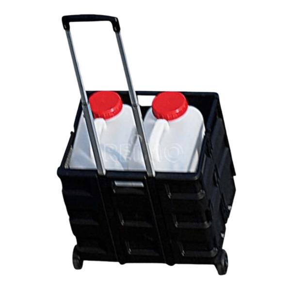 Transportwagen mit Faltbox - Tragkraft 35kg