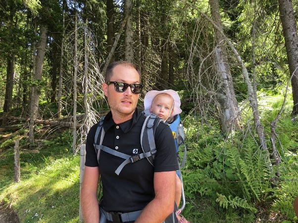 Image of hiking gear for baby