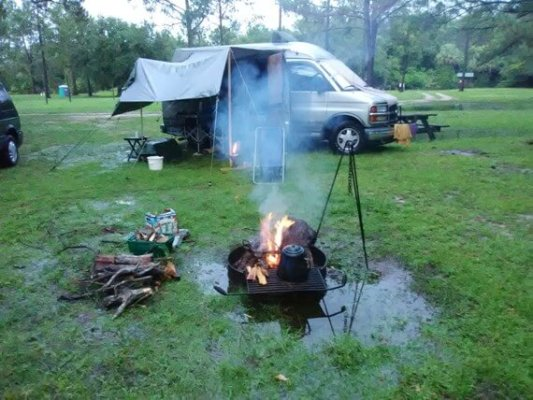 Image of how to camp in the rain