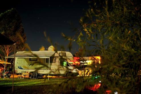 Camping Rino at Night