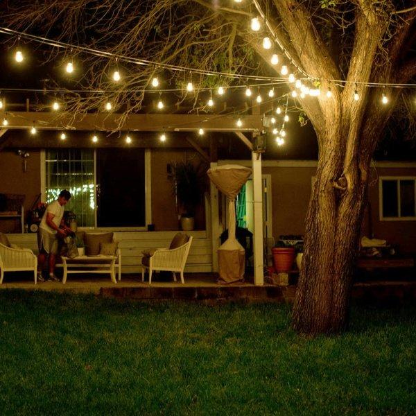 outdoor patio lighting string lights Outdoor Waterproof Commercial Grade Patio String Lights