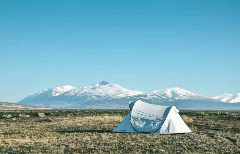 a tent in the middle of no where
