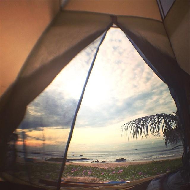 long hai beach camping