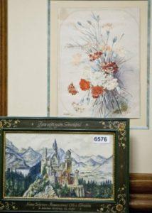 Desenhos e pinturas feitos pelo ditador austríaco Adolf Hitler foram leiloados neste sábado (20/06) em Nuremberg, no Sul da Alemanha – Foto: Daniel Karman/EFE