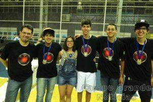 Equipe Hal conseguiu a terceira vitória consecutiva na etapa estadual da OBR – Foto: Campus Ponta Porã/Divulgação