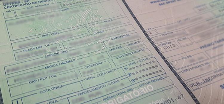 Certificado de registro de veículo (CRLV)