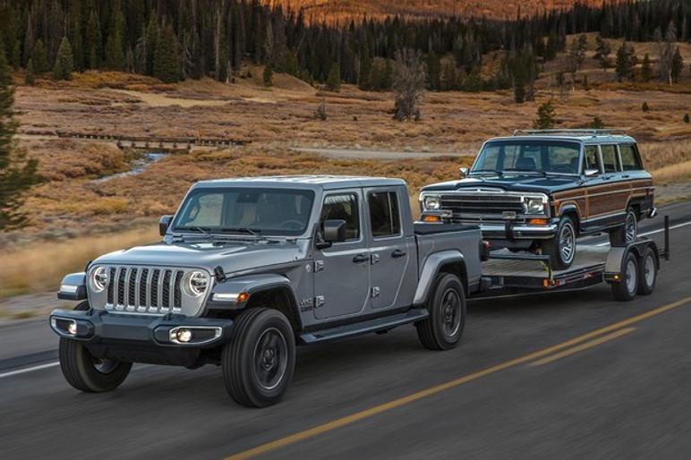 a Gladiator é capaz de levar até um Jeep Wagoneer (Foto: Divulgação)