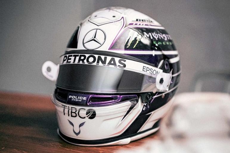 Hamilton mudou a cor principal de seu capacete para 2020 (Foto: Divulgação)