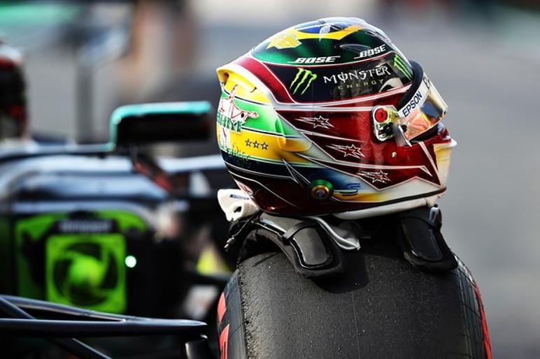 Capacete Lewis Hamilton para o GP Brasil de 2019 (Foto: Divulgação)