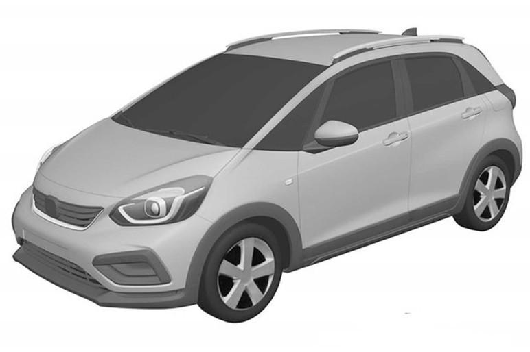 Novo Honda Fit aventureiro foi registrado no INPI (Foto: Reprodução INPI)