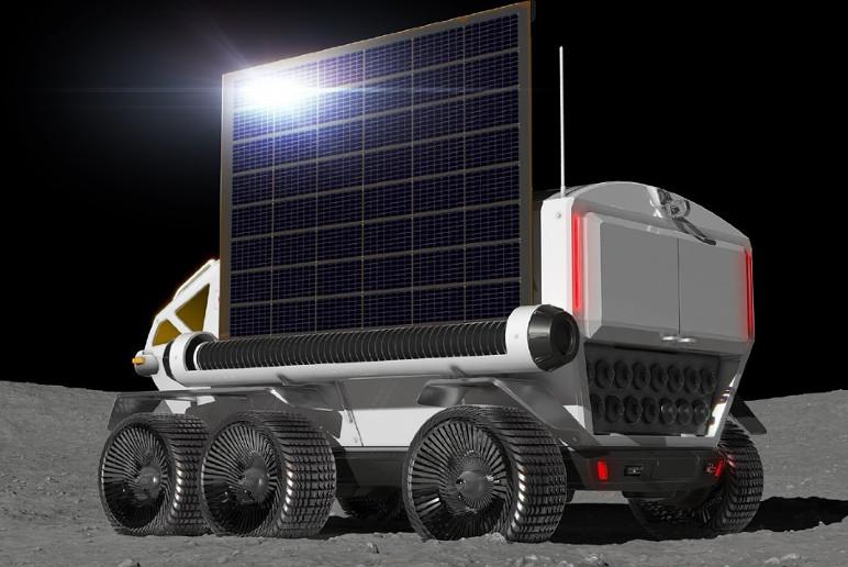 Jipe lunar funcionará a partir de células de energia alimentadas por luz solar (Foto: Divulgação)