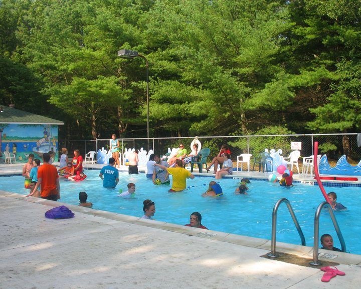summer camp swimming pool
