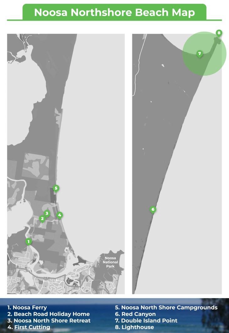 Noosa Northshore Beach Map