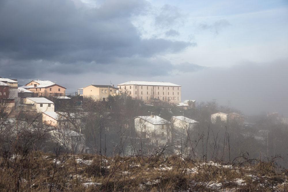 Niebla, nieve y sol, así amaneció ayer Camprovín.