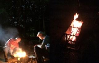淀川アーバンキャンプ2017「焚き火場」の『薪拾いから野外料理まで』リーフレットを構想中