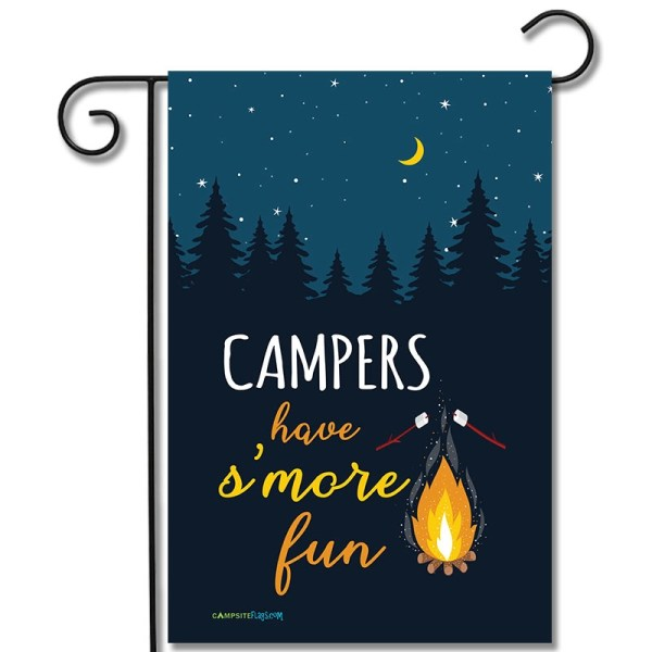 Camping Flag Campers Have S'more Fun