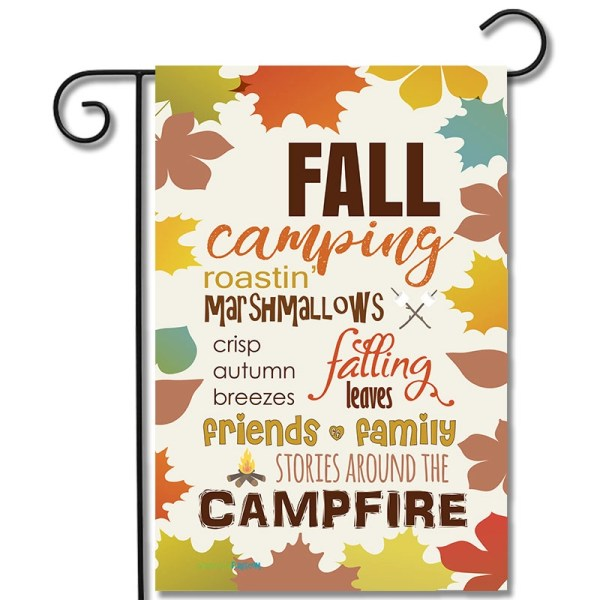 Campsite Flag Fall Camping