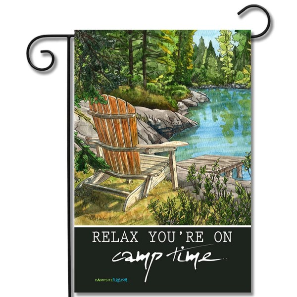 Camper Garden Flag Relax You're On Camp Time