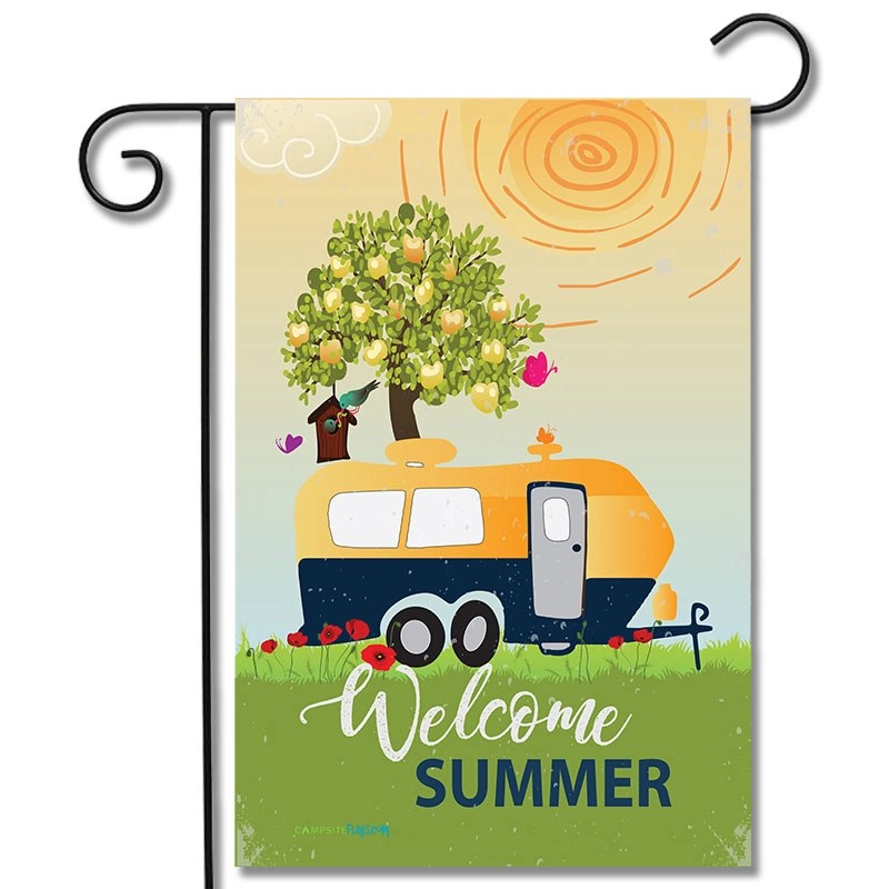 RV Decorative Flag Welcome Summer Travel Trailer
