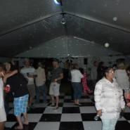 dancers in dance tent