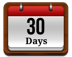 30 DAYS…until we party in a field!