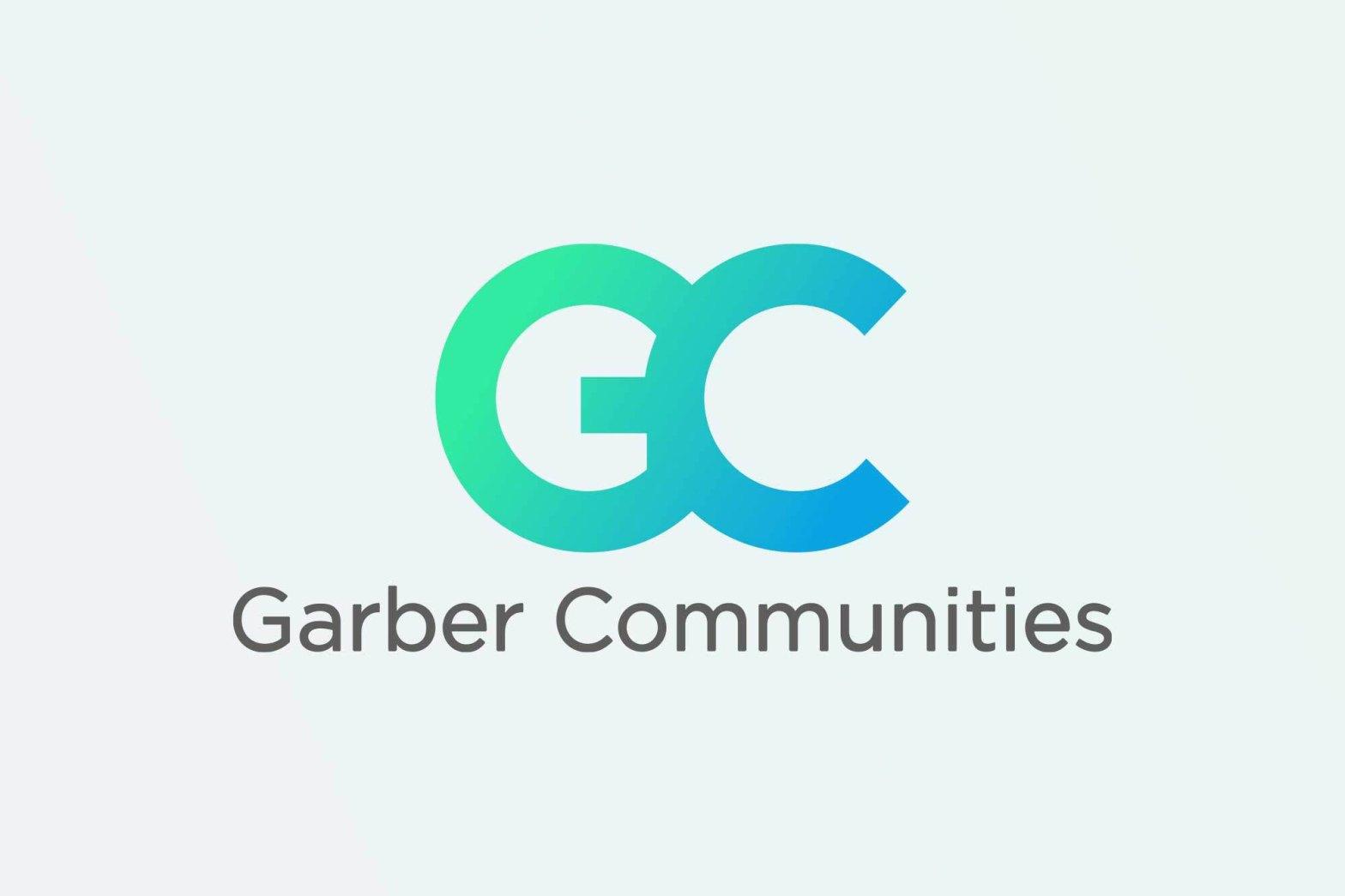 Garber Communities blue logo