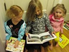 Selah story time during potty break!