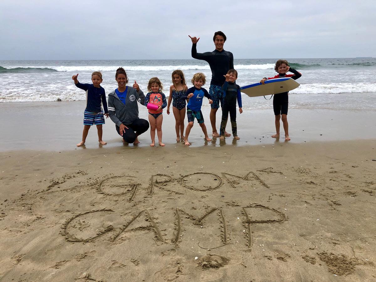Camp Surf Kids smiling