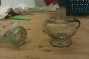 Oil lamp after cleaning