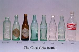 Coca-cola bottle through the years. Image Source -http://dieline.typepad.com/.a/6a00d8345250f069e20120a6a7dbcf970b-550wi