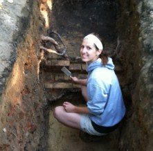 Excavating Saints' Rest's basement, via Katy Meyers